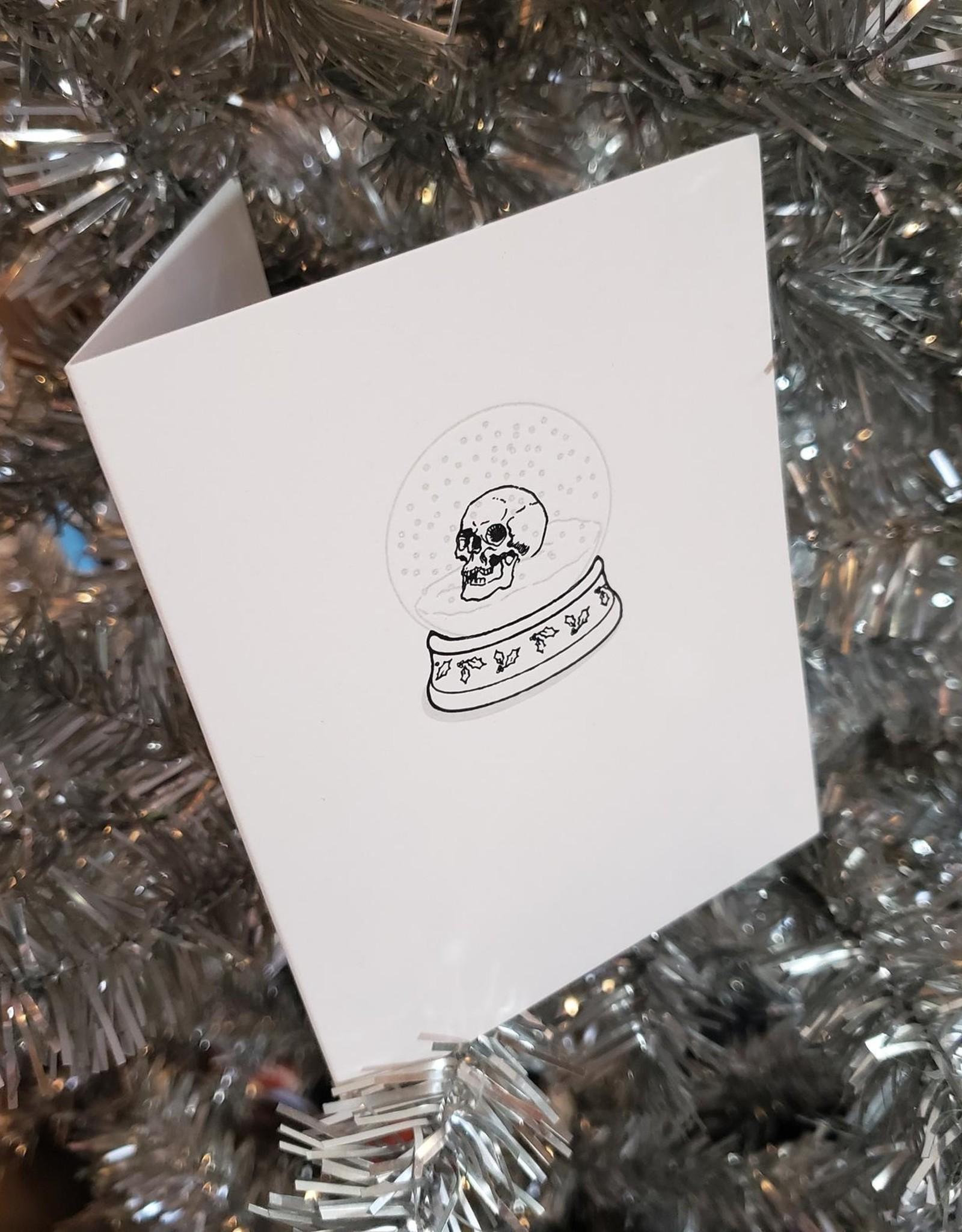 Skylab Letterpress Skull Snowglobe