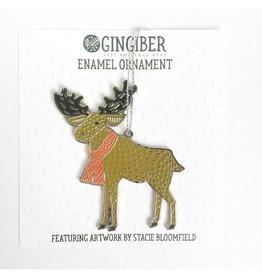 Gingiber Enamel Moose Ornament by Gingiber