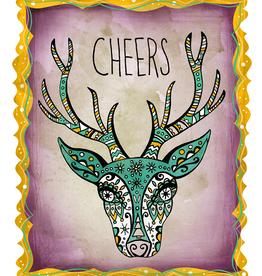 Honeybee Creative Cheers Deer 8x10 Print
