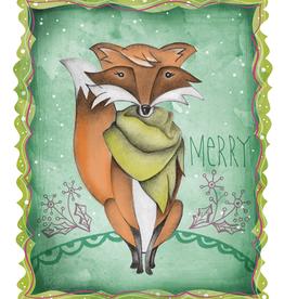 Honeybee Creative Merry Fox 8x10 Print