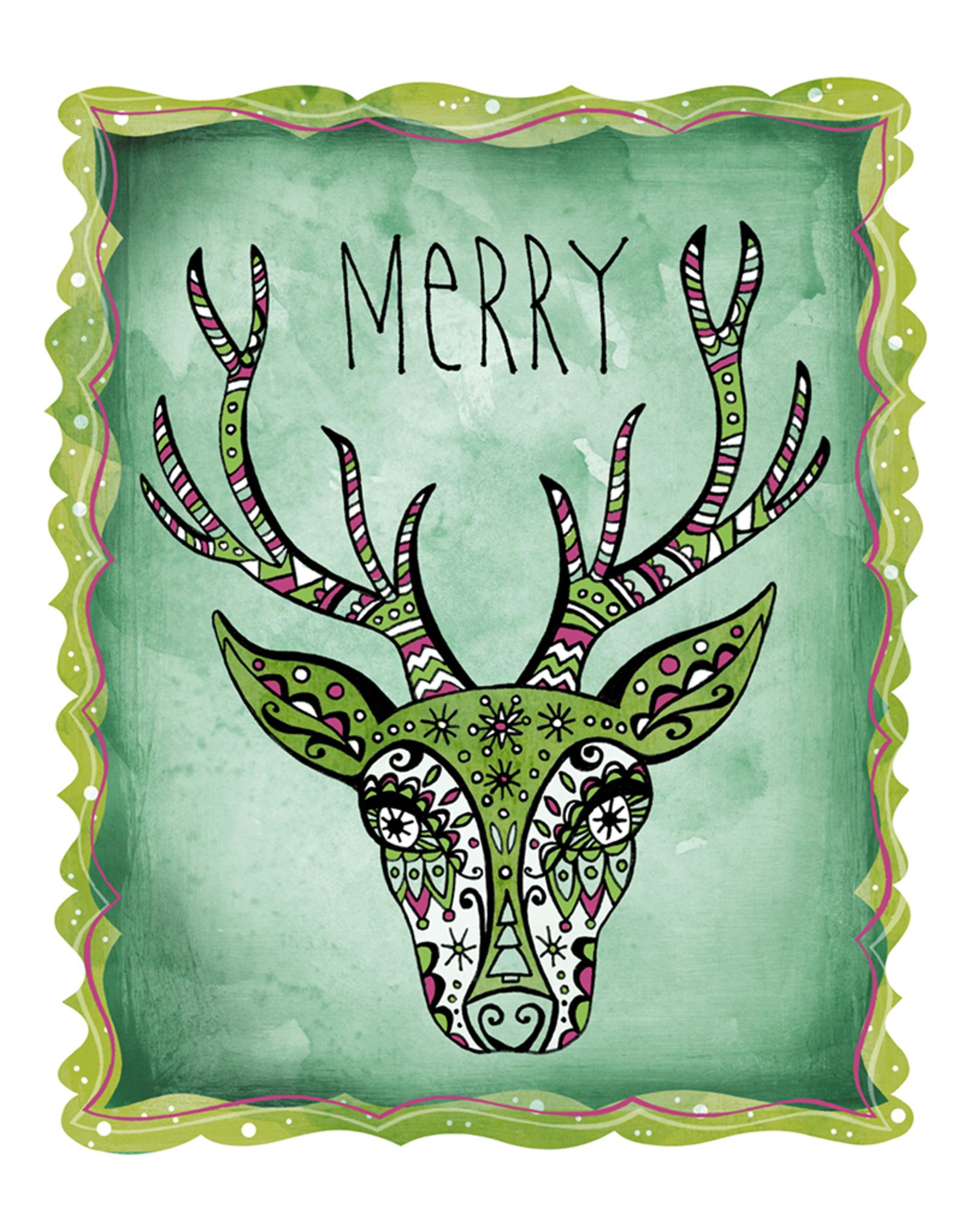 Honeybee Creative Merry Deer 8x10 Print