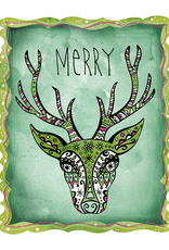 Honeybee Creative Merry Reindeer 5x7 Print