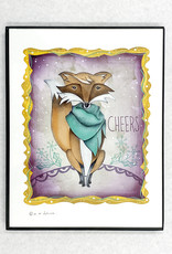 Honeybee Creative Framed Cheers Fox Print