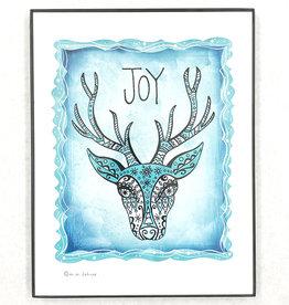 Honeybee Creative Framed Joy Reindeer Print