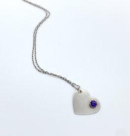 Takotsubo Metals Silver + Amethyst Pendant Necklace
