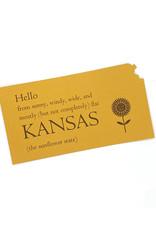 Inkello Hello From Kansas Postcard