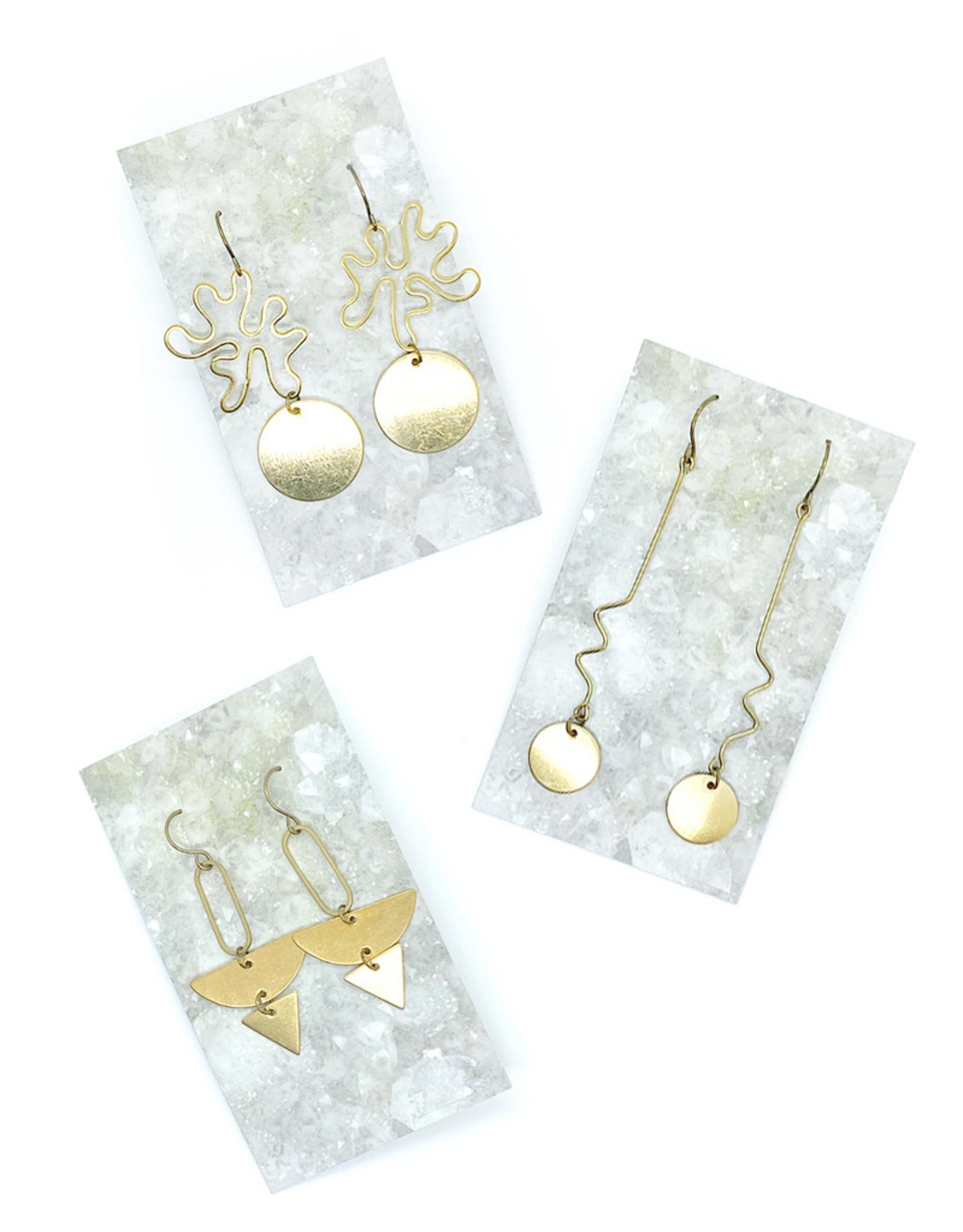 Luxe Debris Raw Brass Earrings by Luxe Debris