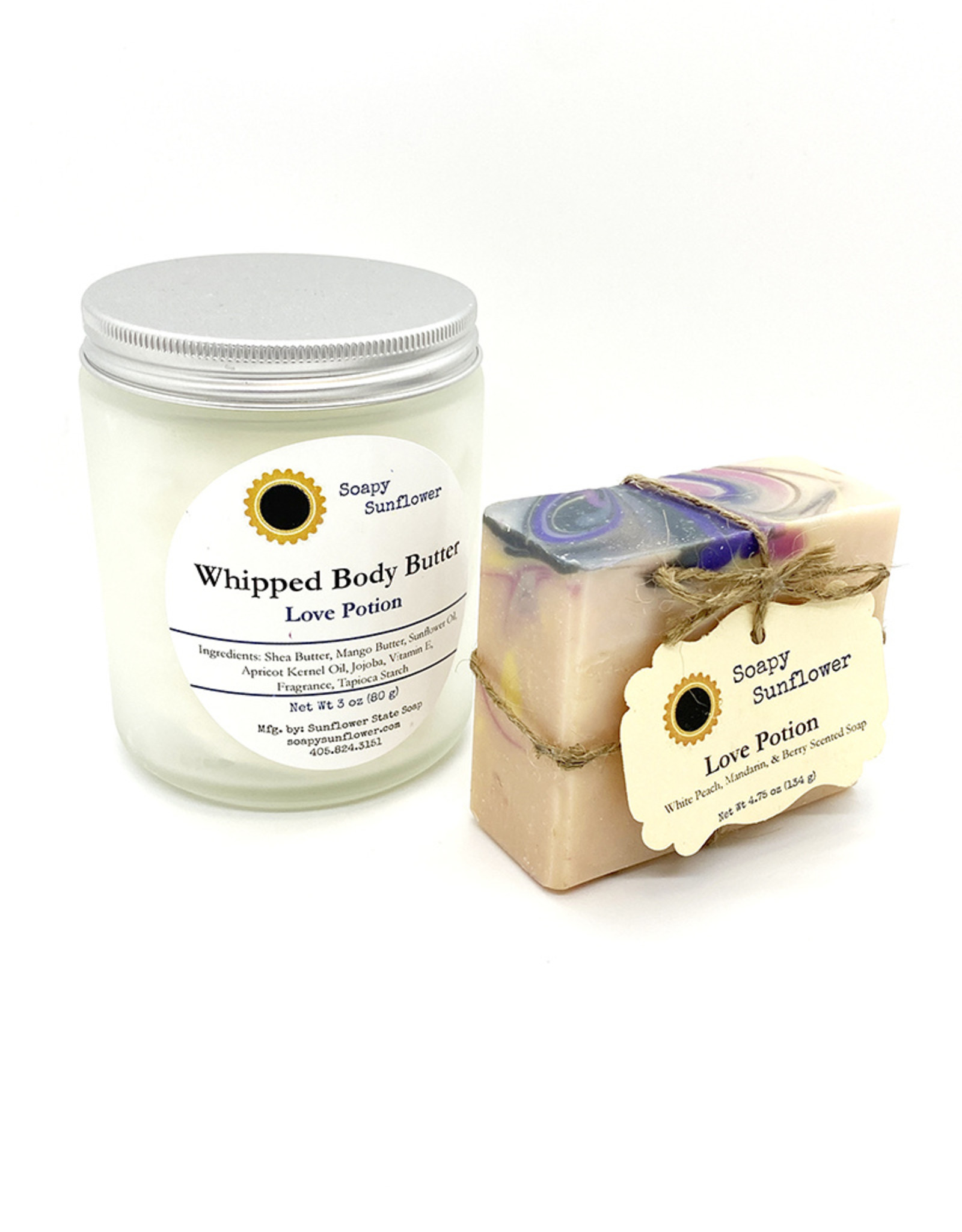 sunflower state soap Love Potion Whipped Body Butter + Handcrafted Soap Gift Set