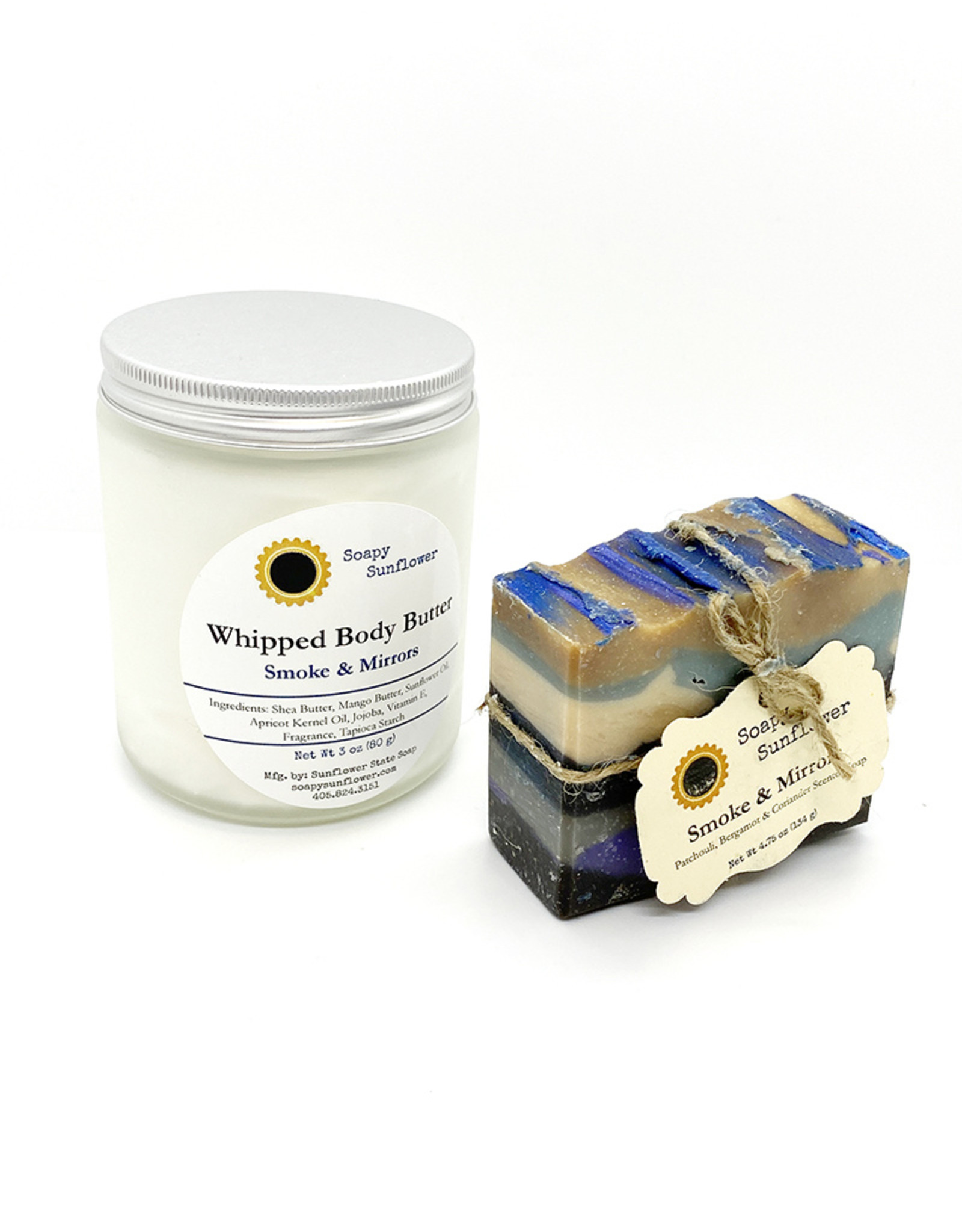 sunflower state soap Smoke & Mirrors Whipped Body Butter + Handcrafted Soap Gift Set