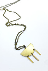 Luxe Debris Raw Brass Necklace by Luxe Debris