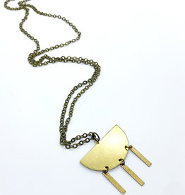Luxe Debris Raw Brass Necklace by Luxe Debris