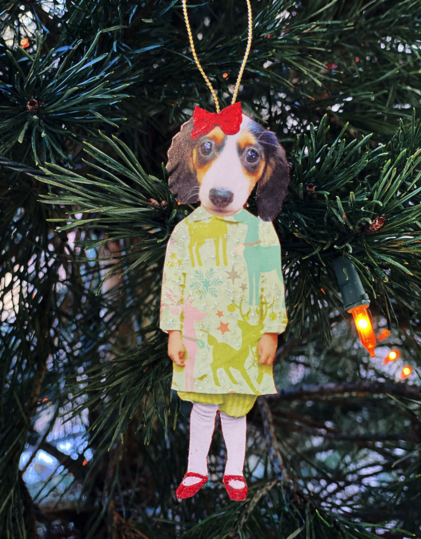 Another Girl Dog Holiday Ornaments