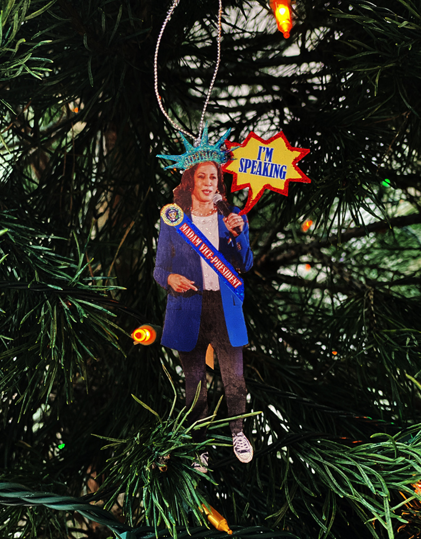 Another Girl Political + Hero Holiday Ornaments