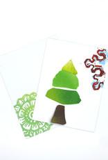 Paul Punzo Christmas Tree And Snowflake card