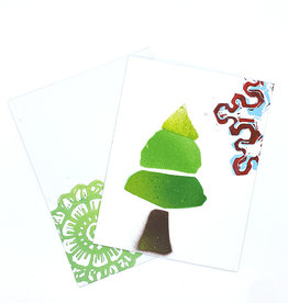 Paul Punzo Christmas Tree And Snowflake card