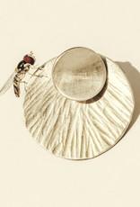 sara forrest design Floating Disk Earrings (moon or circle) by Sara Forrest Design