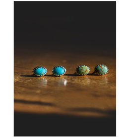sara forrest design Kingman Mined Turquoise Studs by Sara Forrest Design