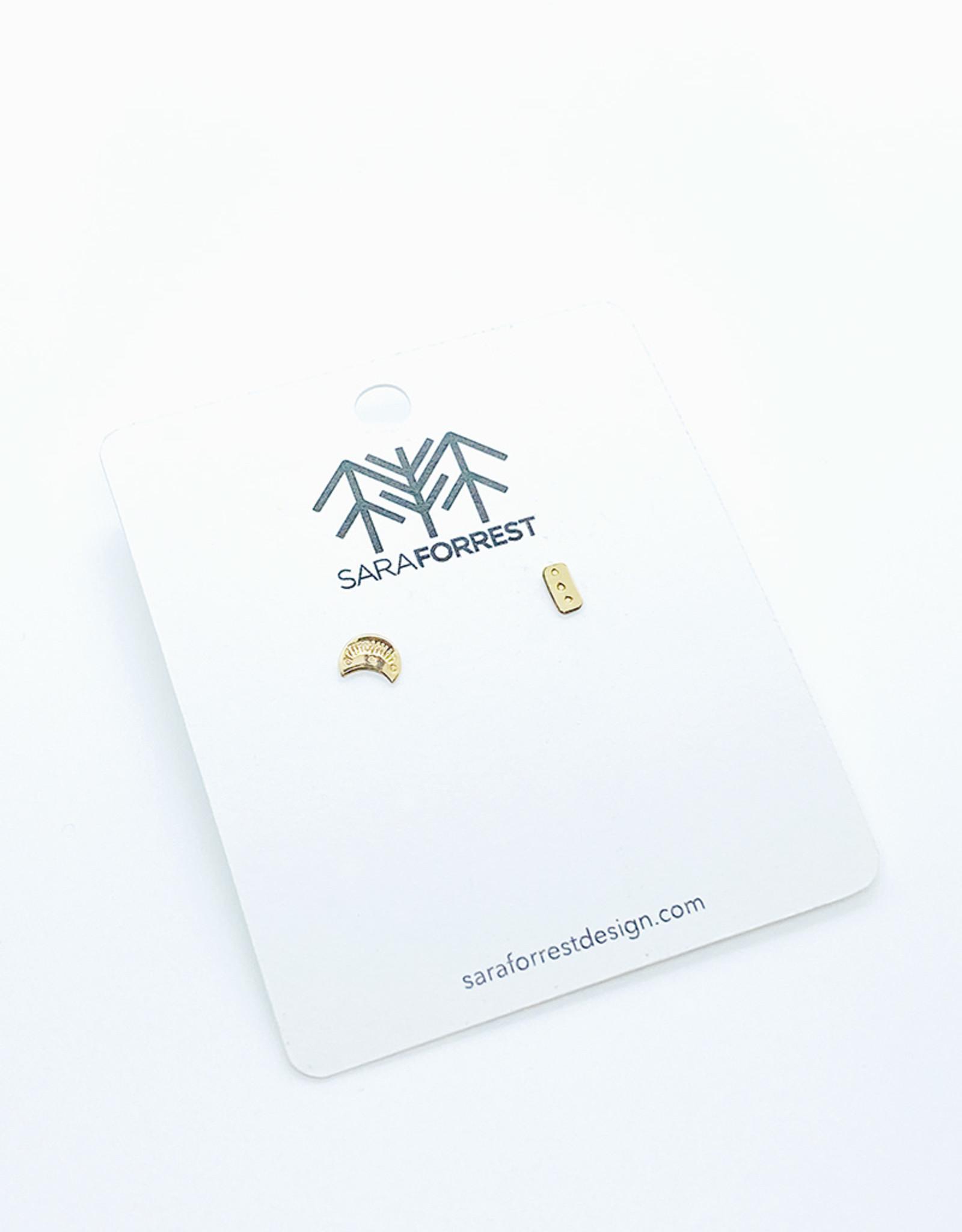 sara forrest design Mix Match Gold Filled Earrings by Sara Forrest Design