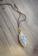 Bloom + Thistle Chalcedoney Necklace by Bloom + Thistle
