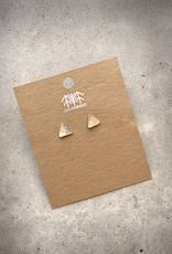 sara forrest design Sterling Silver Triangle Studs