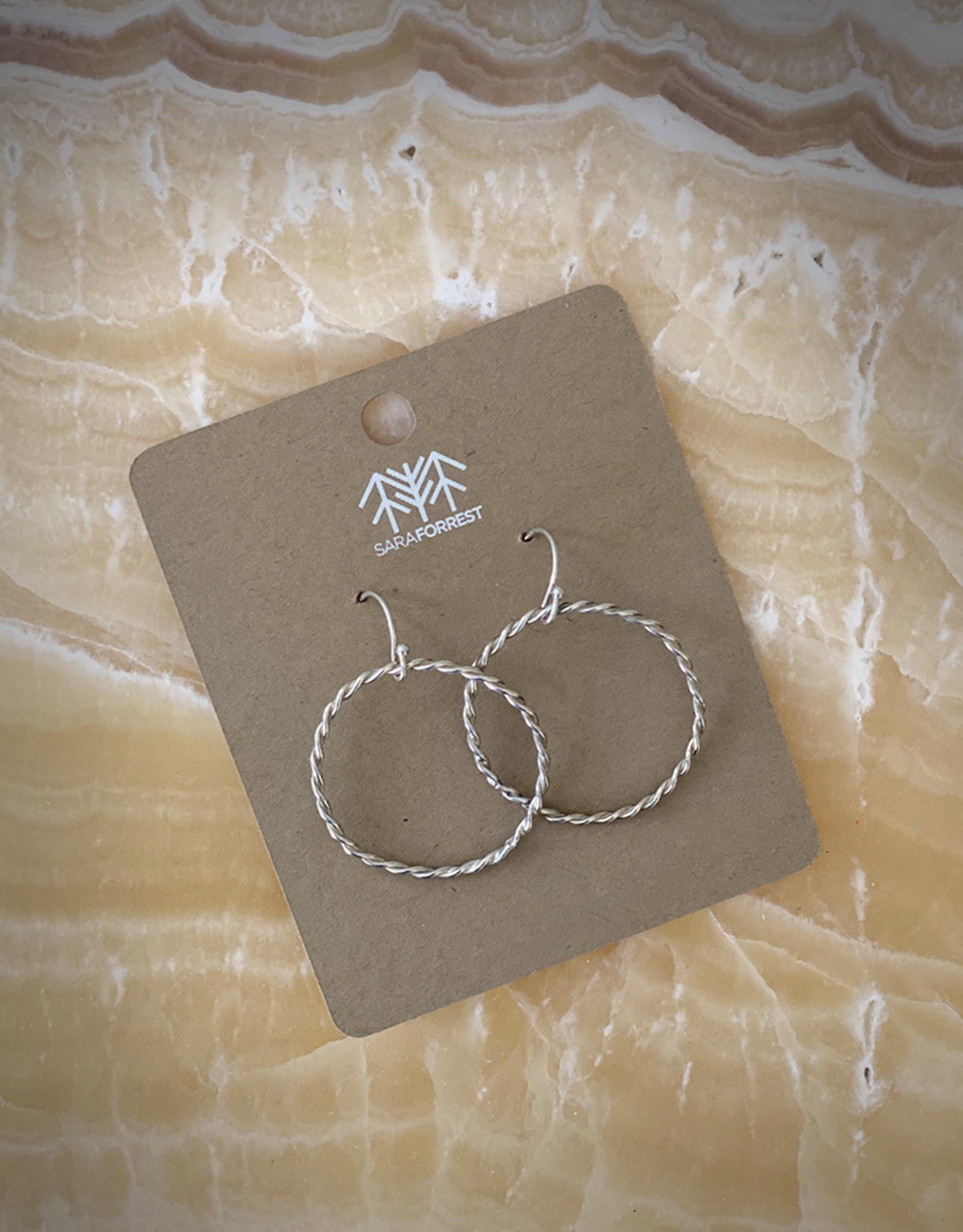 sara forrest design Twist Hoop Earrings by Sara Forrest Design