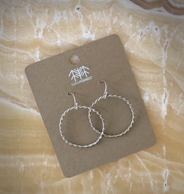sara forrest design Twist Hoop Earrings by Sara Forrest Design