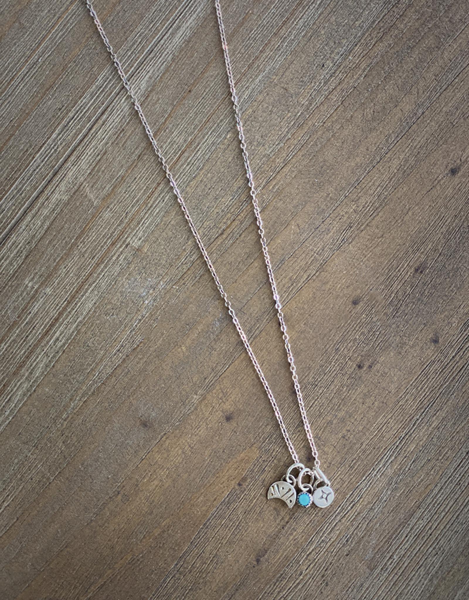 sara forrest design Sterling Silver Charm Necklace
