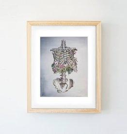 Trisha Thompson Adams Floral Skeleton Print // Dark Grey