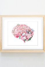 Trisha Thompson Adams Floral Brain Print // White
