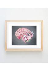 Trisha Thompson Adams Floral Brain Print // Grey