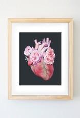Trisha Thompson Adams Floral Heart Print // Black