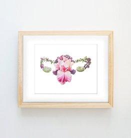 Trisha Thompson Adams Floral Uterus Print // White