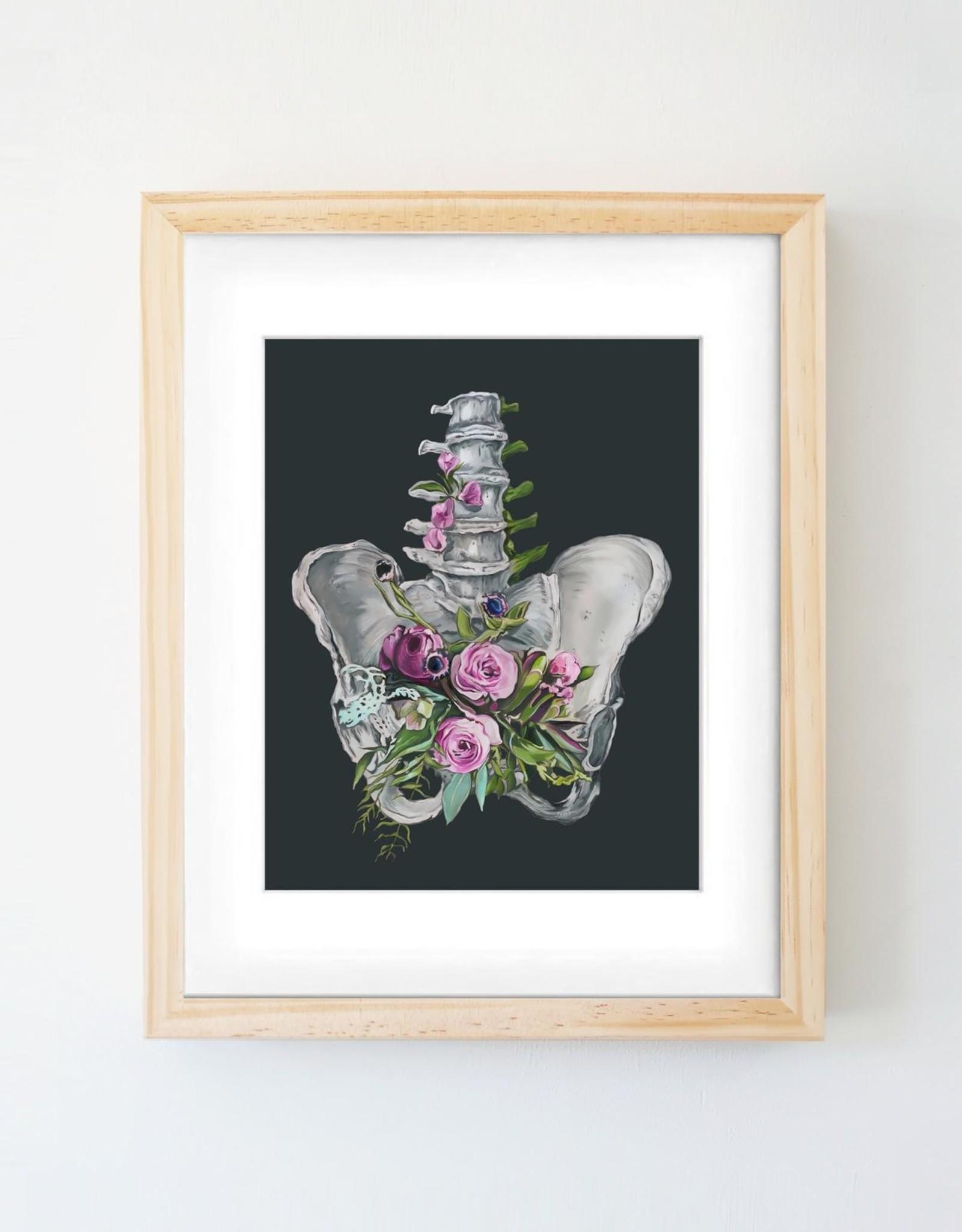 Trisha Thompson Adams Floral Pelvis Print // Black