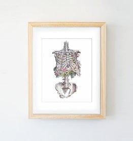 Trisha Thompson Adams Floral Skeleton Print // White