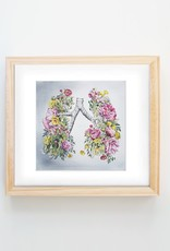 Trisha Thompson Adams Floral Lungs Print // Grey