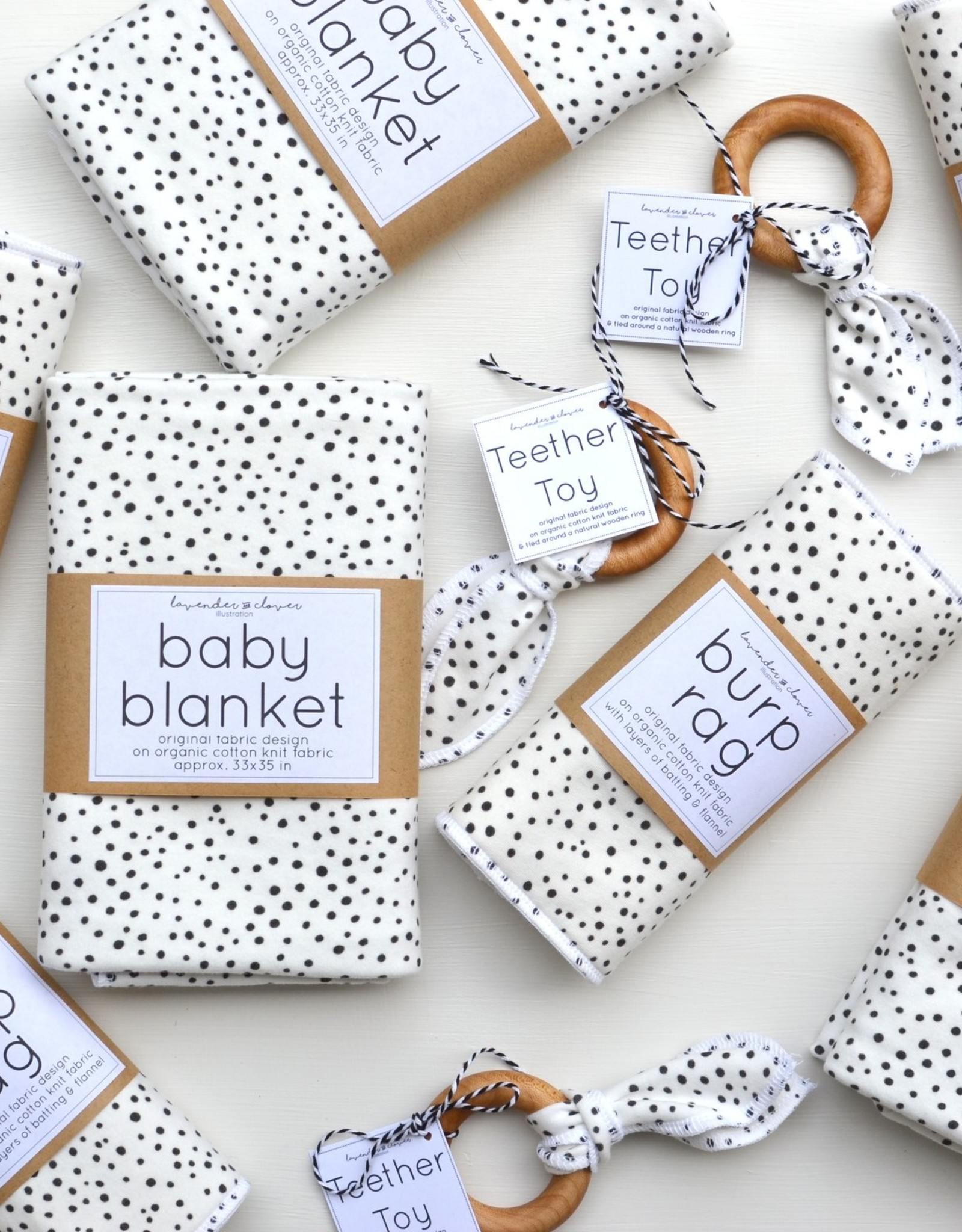 lavender + clover Baby Blankets by Lavender + Clover