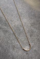 sara forrest design Hammered Curve Necklace