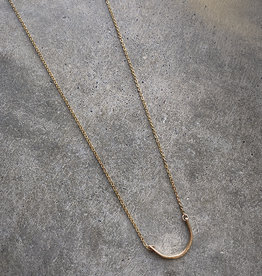 sara forrest design Hammered Curve Necklace