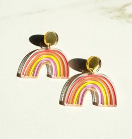 Sleepy Mountain Sunset Rainbow Earrings