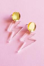 Sleepy Mountain Lightning Bolt Acrylic Earrings