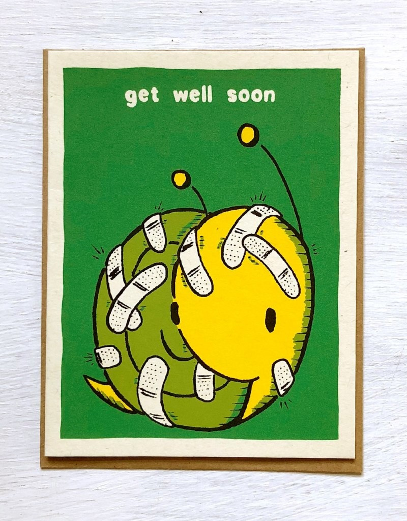 Everyday Balloons Snail With Bandaids Card