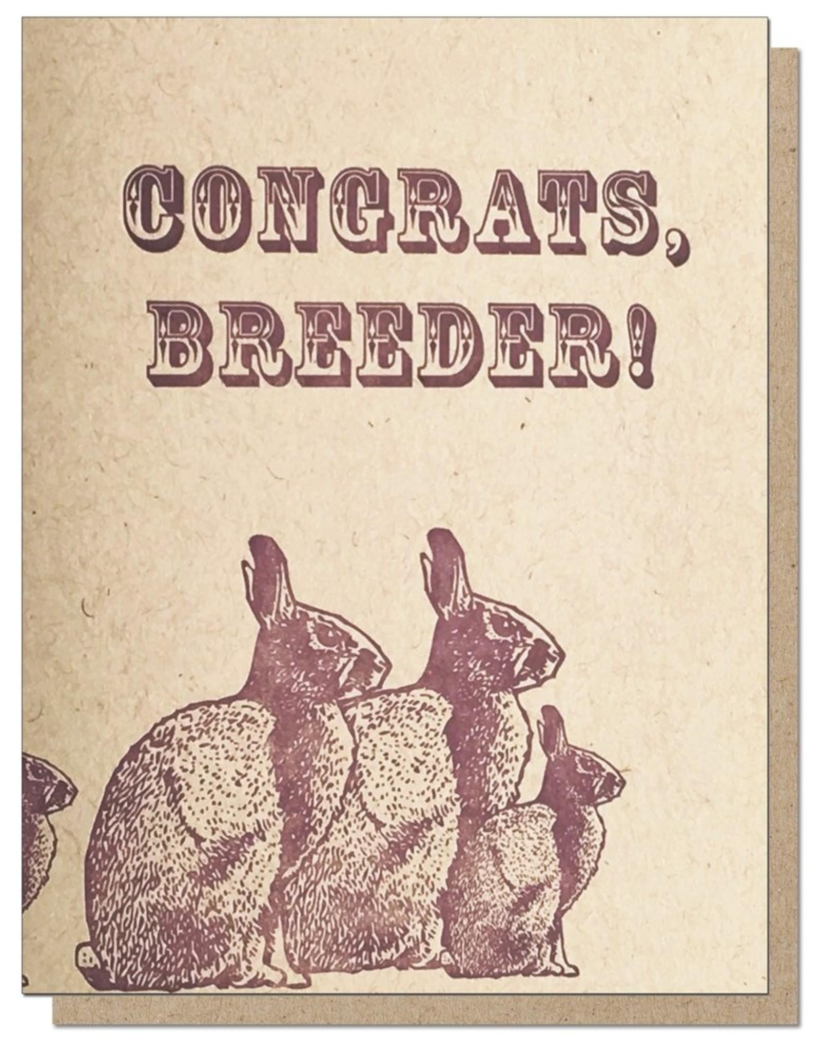 Guttersnipe Press Congrats, Breeder Card