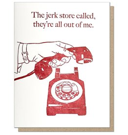 Guttersnipe Press The Jerk Store Called Card