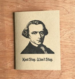 Guttersnipe Press Kant Stop Won't Stop Card