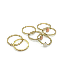 Tilly Doro Assorted Stacking Rings by Tilly Doro