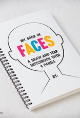 Inkello My Book of Faces // A Draw-And-Tear Sketchbook with 4 Panels