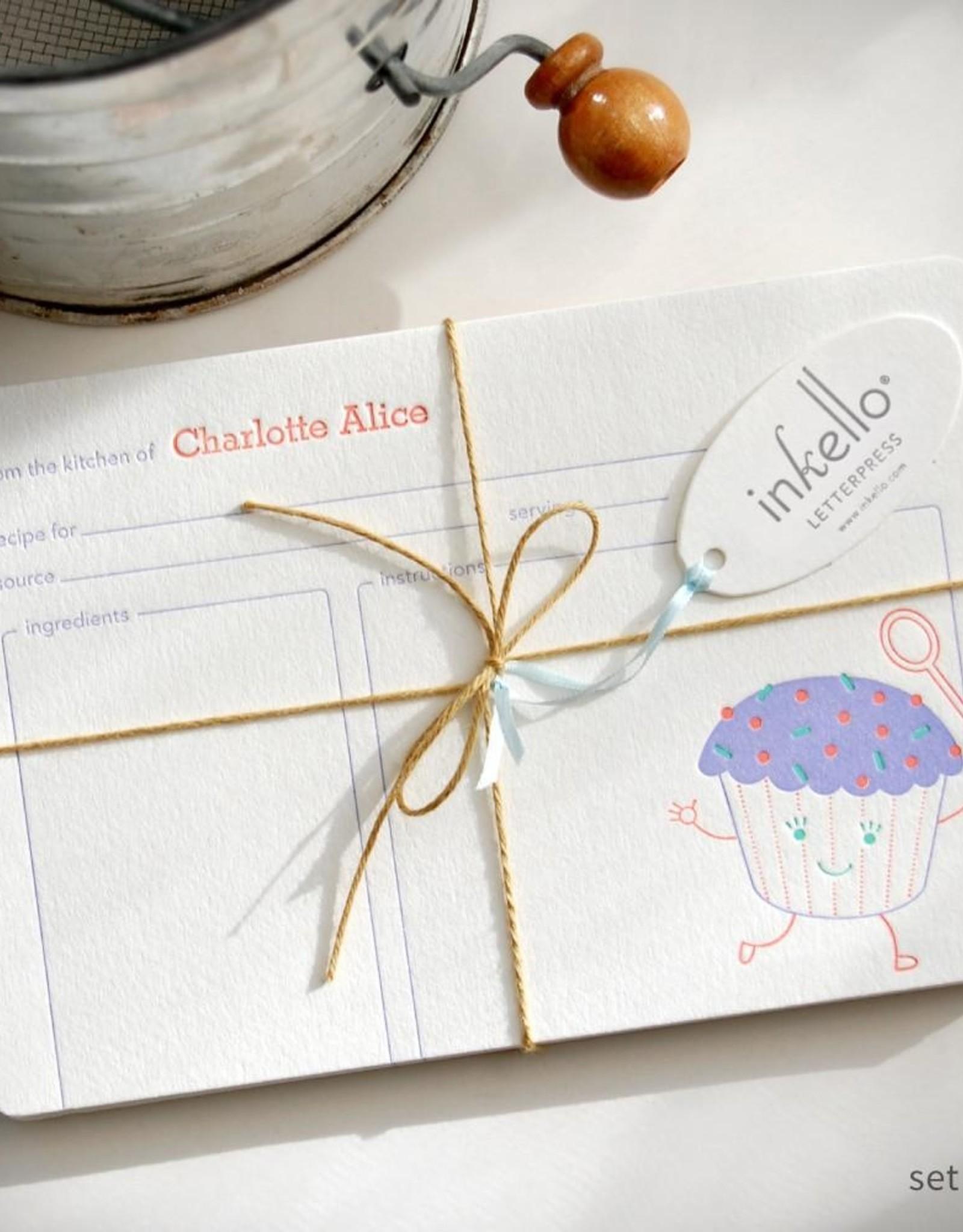 Inkello Cupcake Recipe Cards