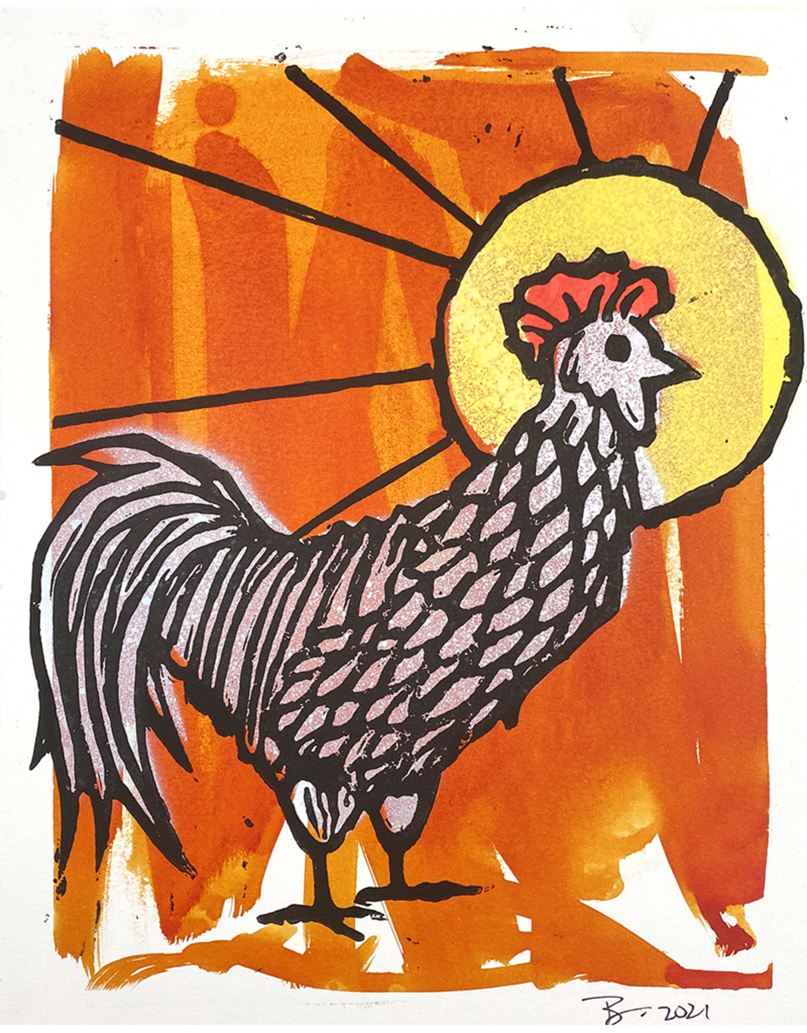 Paul Punzo Rooster Print by Paul Punzo