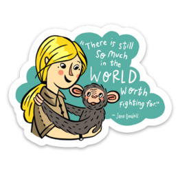Culture Flock Jane Goodall Sticker