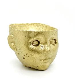 GLO.BOWL Concrete Doll Head Planters